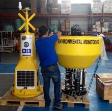 Buoy installed south of El Hierro island equiped with a SP100-SM sensor..